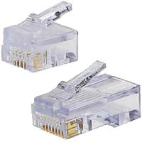 RJ11, RJ12, RJ22, RJ45 Connector Plugs
