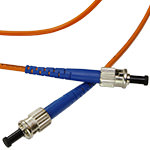 ST/ST Multi-Mode Simplex Fiber Cable - OM1 - 3mm