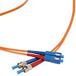 SC/ST Multi-Mode Duplex Fiber Cable - OM1 - 3mm