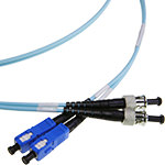 SC/ST Multi-Mode Duplex .Fiber Cable - OM3 - 3mm
