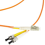 LC/ST Multi-Mode Duplex Fiber Cable - OM1 - 2mm