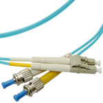 LC/ST Multi-Mode Duplex Fiber Cable - OM3 - 2mm
