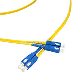 SC/SC Single-Mode Duplex Fiber Cable - OS2, 3mm