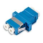Conn Adpt Fiber SM/MM LC/LC Duplex F-Thru, Flange, Zirconium