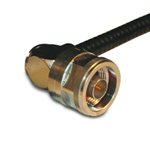 N Connector, RG58/141/303/LMR195/ B7806A, Male, Crimp, 90º