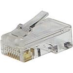 ModPlug, RJ45, 8P/8C, Flat Wire, Stranded, UL, 50µ Gold