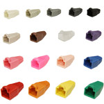 RJ45 Cable Boots - Bubble, 6.0 mm, Assorted Colors