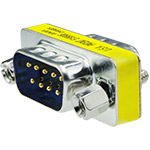 DB9 Coupler, Male/Male, Mini