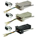 DB9 Adapter, DB9 Male/RJ12, 6P/6C/USOC, Assorted Colors