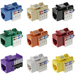 Keystone Jack - Cat6 - RJ45/110 90º - 8P/8C/568A-B - Assorted Colors