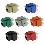 Keystone Jack, Cat5e, RJ45/110 180º, 8P/8C/568B, Assorted Colors