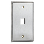 Flush Mount Stainless Steel Keystone Wall Plate - Single Gang - 1 Port