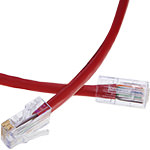 Cat 6 - Solid Plenum Patch Cable - No Boot - USA