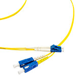 LC/SC Single-Mode Duplex Fiber Cable - OS2, 2mm
