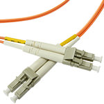 LC/LC Multi-Mode Duplex Fiber Cable - OM2 - 2mm