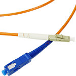 LC/SC Multi-Mode Simplex Fiber Cable - OM1 - 3mm