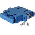 Conn Adpt Fiber SM/MM SC/SC Duplex F-Thru, Flange, Ceramic