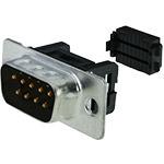 DB9 Block, IDC Flat Cable Crimp, Male
