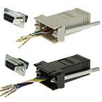 DB9 Adapter, DB9 Female/RJ12, 6P/6C/USOC, Assorted Colors