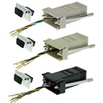 DB9 Adapter, DB9 Male/RJ12, 6P/6C/USOC, Assorted Colors