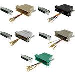 DB25 Adapter, DB25 Female/RJ45, 8P/8C/USOC, Assorted Colors