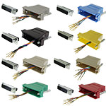 DB25 Adapter, DB25 Male/RJ45, 8P/8C/USOC, Assorted Colors