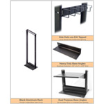 2 Post 45U Standard 7 Foot Rack - Black or Mill Finish