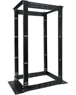 24U 4 Post Double Aluminum Adjustable Rack