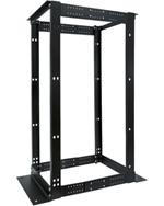 24U 4 Post Double Aluminum Adjustable Rack