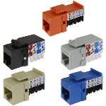Keystone Jack, Cat6, RJ45/110 90º, 8P/8C/568A-B, Premium, Assorted Colors