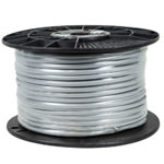 Flat Satin Bulk Cable - 4 Conductor - PVC - 26AWG - Stranded - UL - 1Kft - Black or Gray