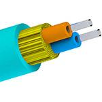 Bulk Fiber MultiMode/02str, OM3, OFNR, DIB, In/Out, AQUA - Per Foot