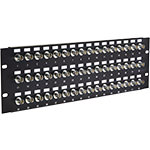 BNC Feedthru Panel, Loaded, 48 Port, 3U, 75Ω